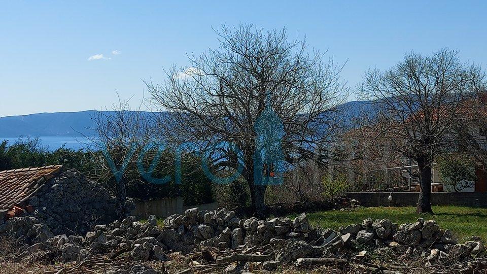 Grad Krk, šira okolica, građevinsko zemljište od 861 m2 s pogledom na more