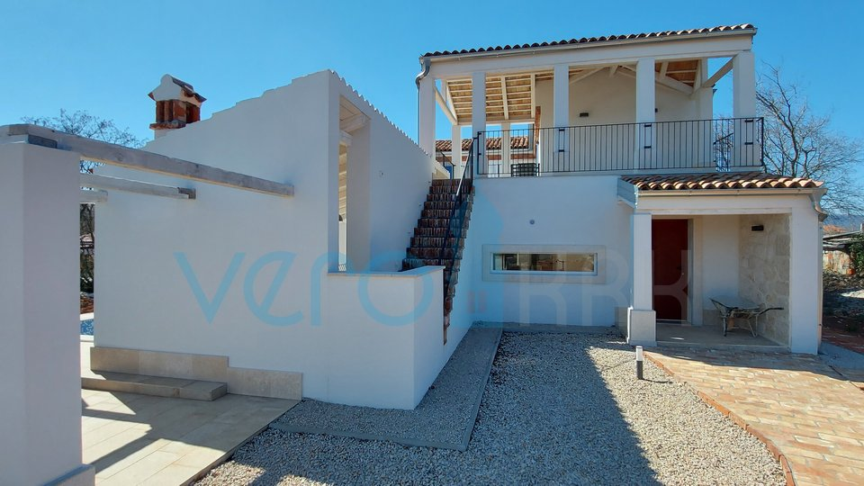 The town of Krk, wider surroundings, beautiful Mediterranean villa with pool and sea view