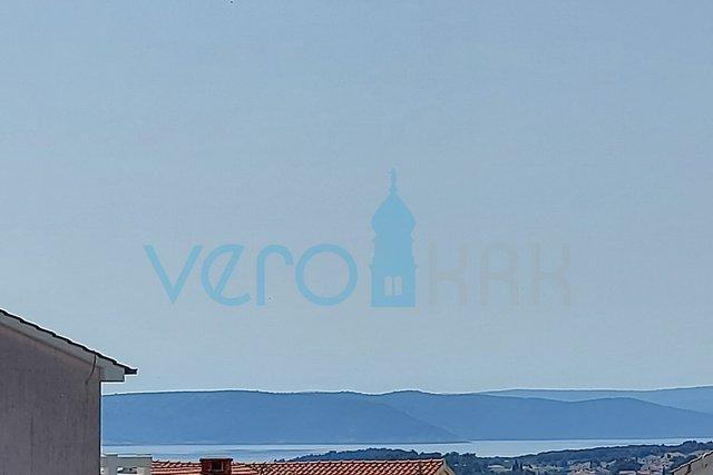 Grad Krk, garsonijera sa prekrasnim panoramskim pogledom na more