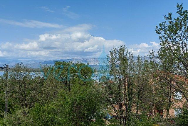 Uvala Soline, otok Krk, stan na 2 katu sa pogledom na more na 200m