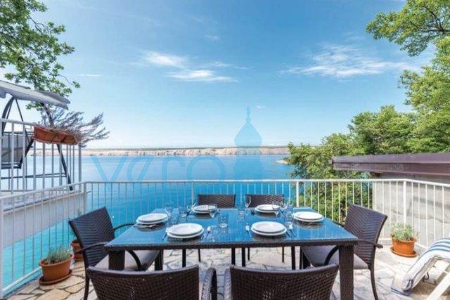 Jadranovo, Crikvenica, dvojna kuća 1. red do mora sa prekrasnim pogledom