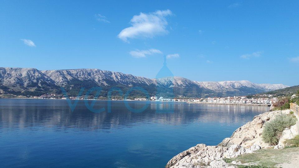 Baška, otok Krk, građevinski teren, 500m do plaže
