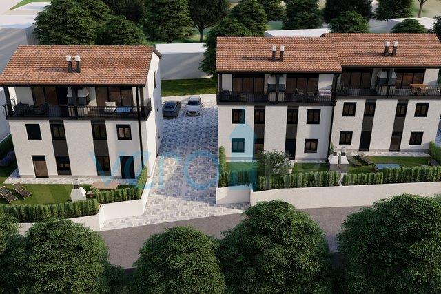 Bucht Soline, Insel Krk, Dreizimmerwohnung im Erdgeschoss eines Neubaus mit Garten