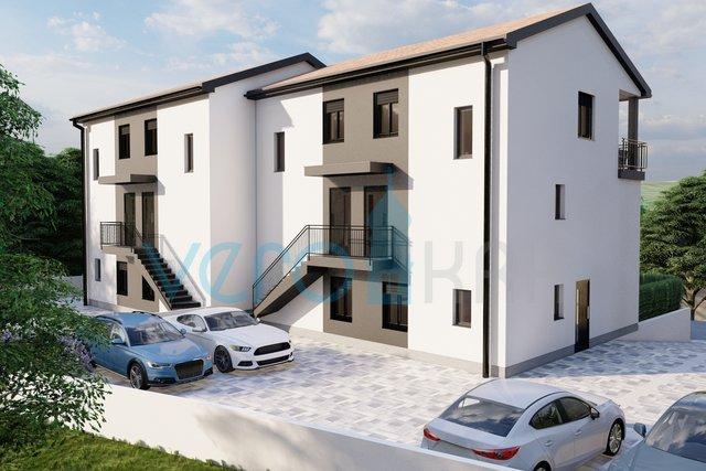 Bucht Soline, Insel Krk, Maisonette-Wohnung in einem Neubau mit Panoramablick auf das Meer
