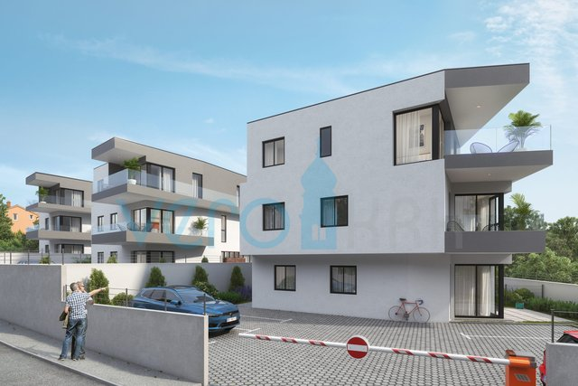 Grad Krk, suvremeni stan na katu novogradnje