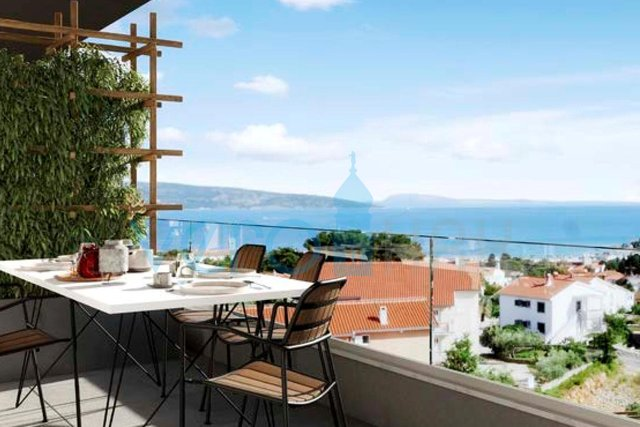 Grad Krk, novogradnja, moderan trosoban stan sa pogledom na more