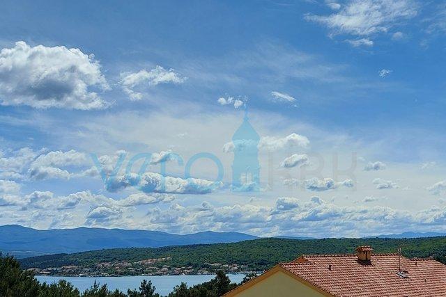 Otok Krk, Čižići, apartman 50 m2 na 2 katu s panoramskim pogledom na more