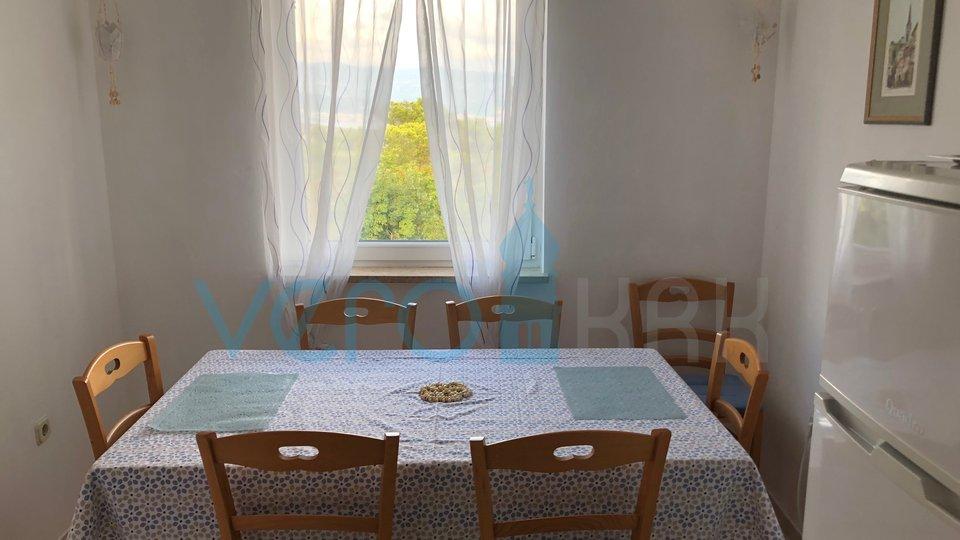 Čižići, Insel Krk, Maisonette-Wohnung mit Garten und Meerblick