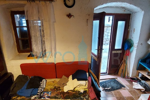 Vrbnik, island of Krk, old town, indigenous coastal house with partial sea view