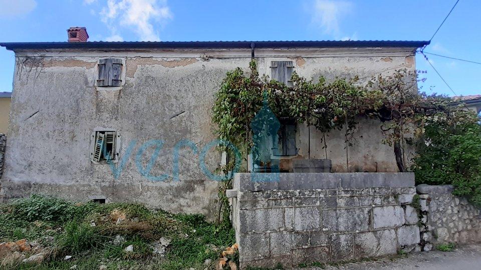 Otok Krk, Malinska, okolica, kamena kuća od 250m2 s pogledom na more