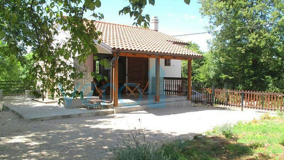 Island Krk, Dobrinj, surroundings, new stone detached house with garden