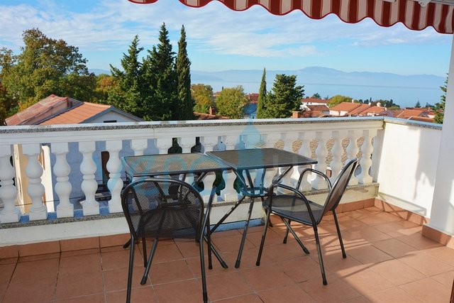 Island of Krk, Malinska, furnished duplex apartment with sea view
