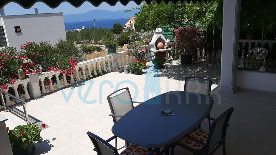 Island of Krk, Malinska, surroundings, semi-detached house with a view