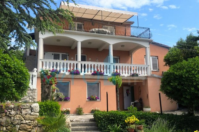 Island of Krk, Krk town, villa with permanent sea view