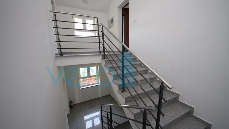 Island of Krk, Čižići, two bedroom apartment with living room, two balconies and sea view