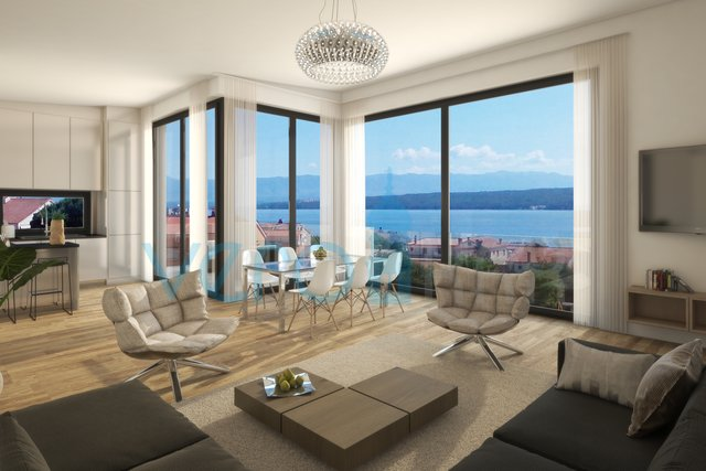 Malinska, island Krk, modern apartment with sea view