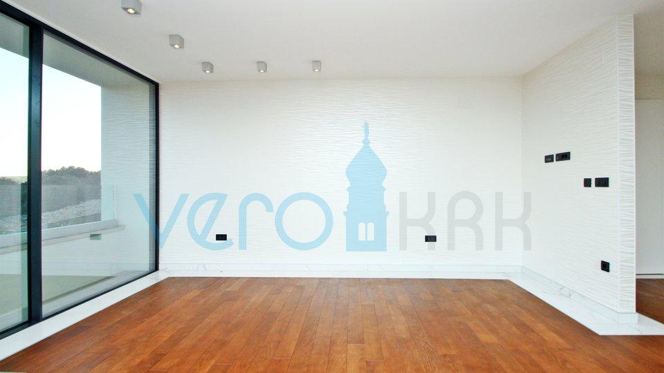 Krk grad, moderan apartman s panoramskim pogledom na more