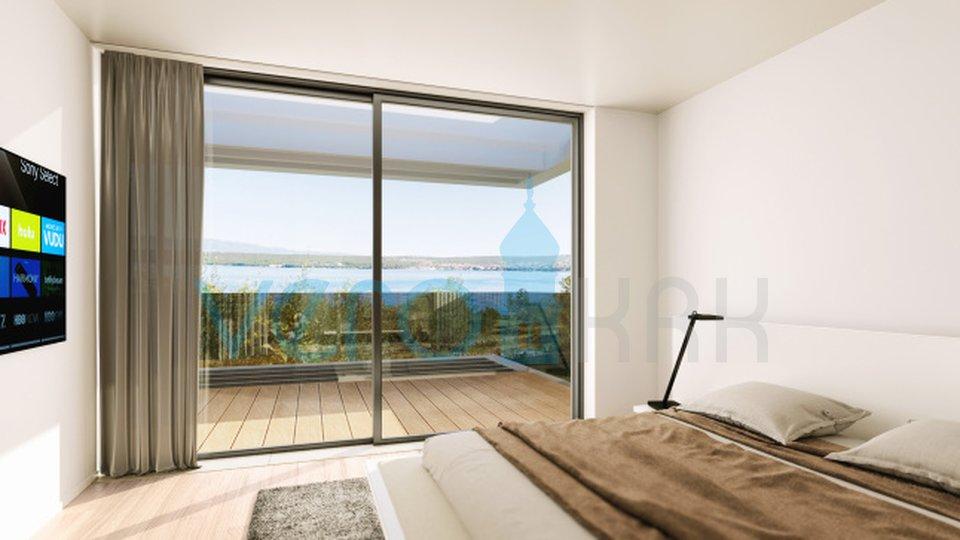 Insel Krk, Malinska, Umgebung, Luxusvilla 150m vom Meer entfernt
