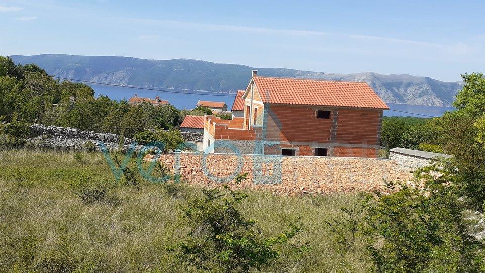 Linardići, otok Krk, građevinsko zemljište s pogledom na more