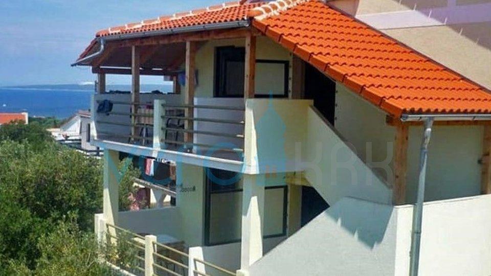 Otok Pag, Lun, samostojeća kuća sa 5 apartmana i pogledom na more