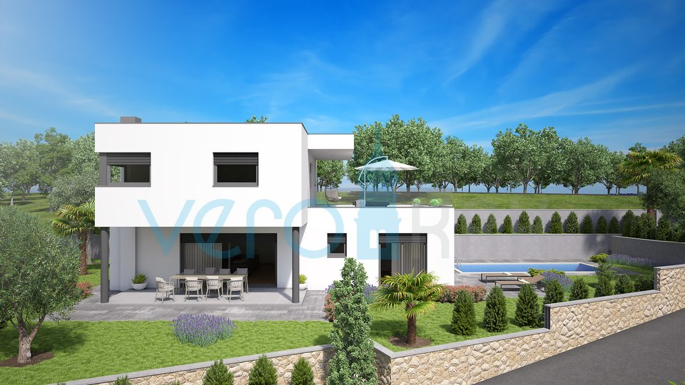 Malinska,surroundings,modern villa with the pool