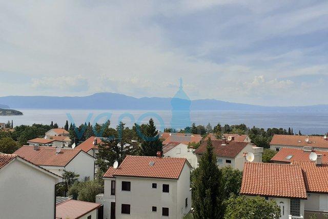 Malinska,otok Krk, apartman 90m2 sa otvorenim pogledom na more