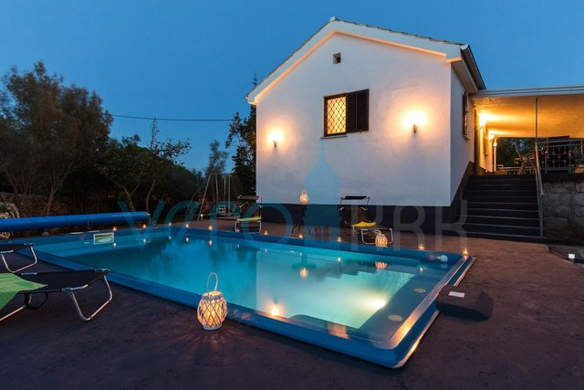 Island of Krk, Dobrinj surroundings, Oasis of Peace in the Heart of Nature! RENOVATED STONE VILLA WITH LUXURY SWIMMING POOL, JACUZZI AND SAUNA