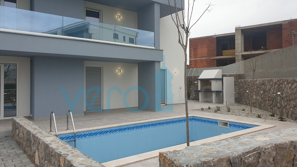 Krk Town, an amazing penthouse with amazing sea views and a swimming pool