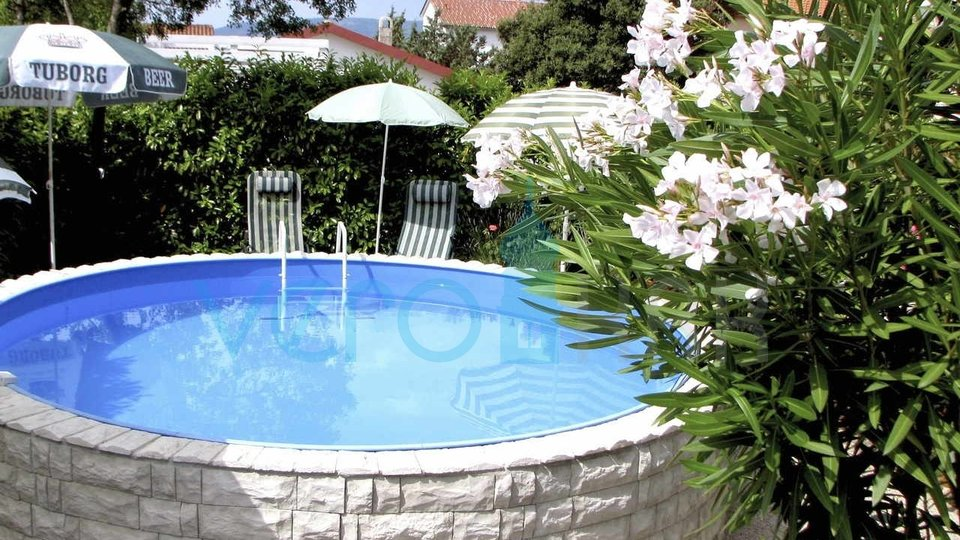 Island of Krk, surroundings, nice house with pool and landscaped garden