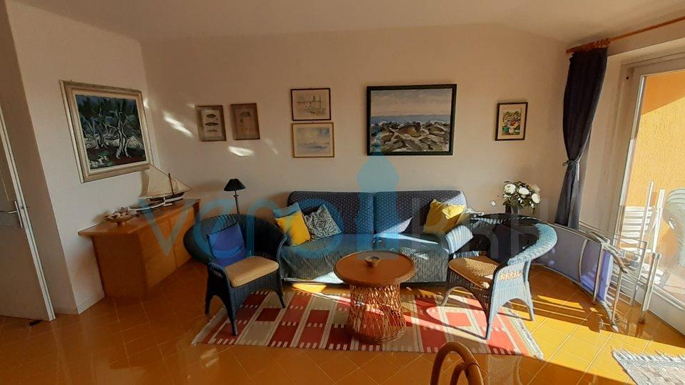 Mesto Krk, dvosobni apartma s pogledom na morje