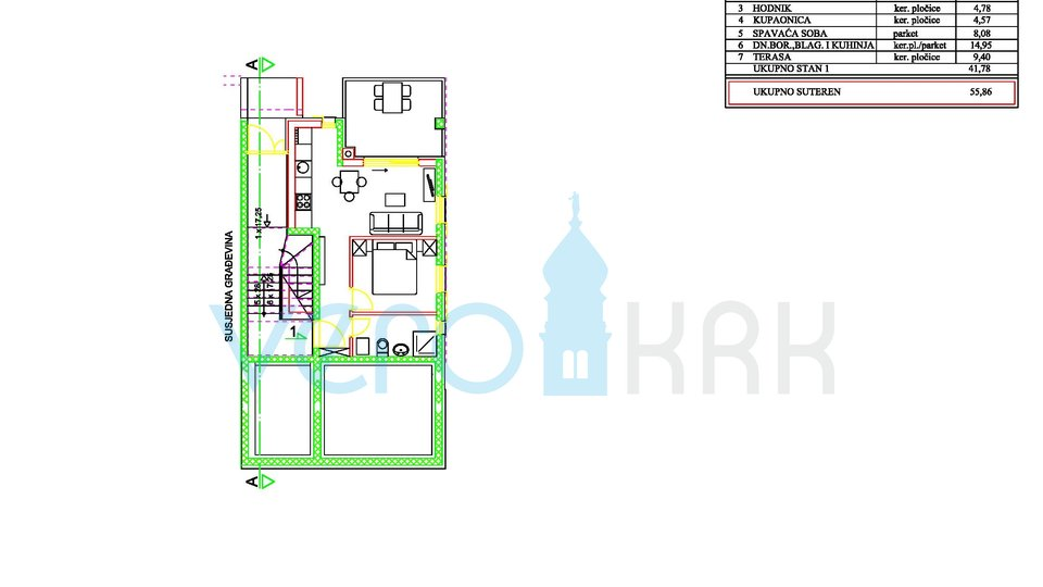 Apartment, 50 m2, For Sale, Njivice