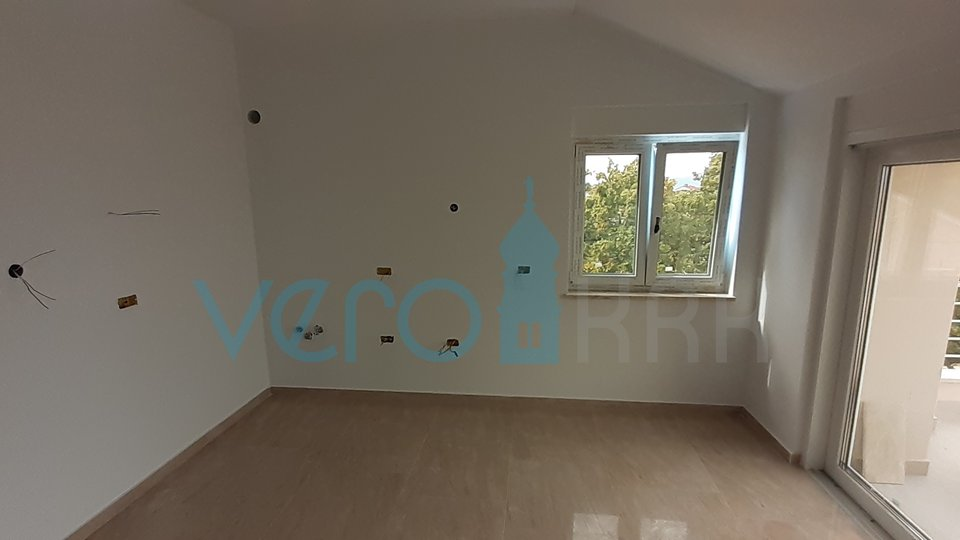The island of Krk, Njivice, two bedroom apartment in the attic with panoramic sea views