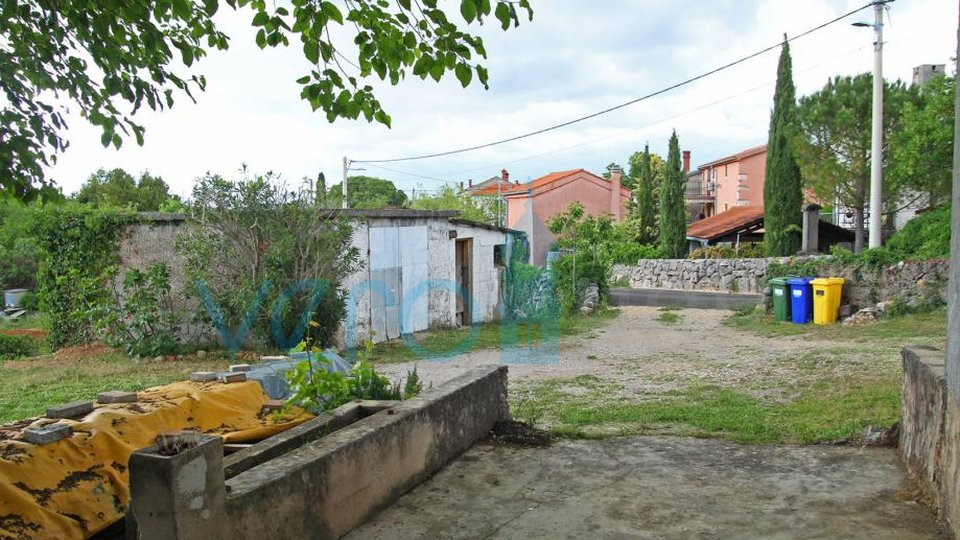 The town of Krk, surroundings, autochthonous old stone house with a large garden