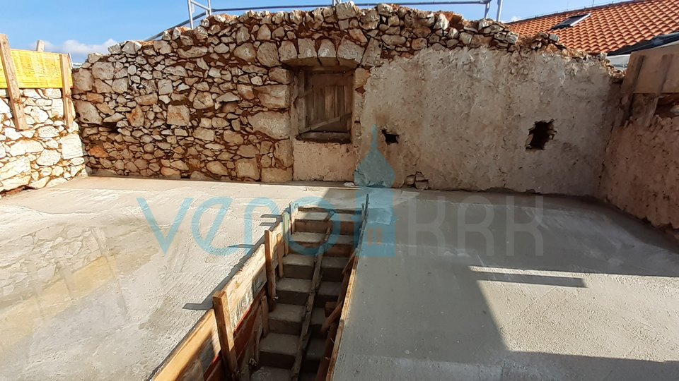 Island of Krk, surroundings, stone house with sea view