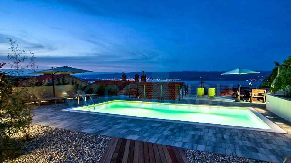 Vrbnik, house with pool and beautiful view