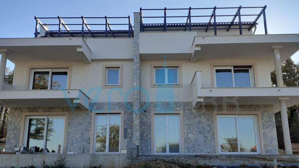 Njivice, island of Krk, luxury semi-detached house with pool and panoramic sea views
