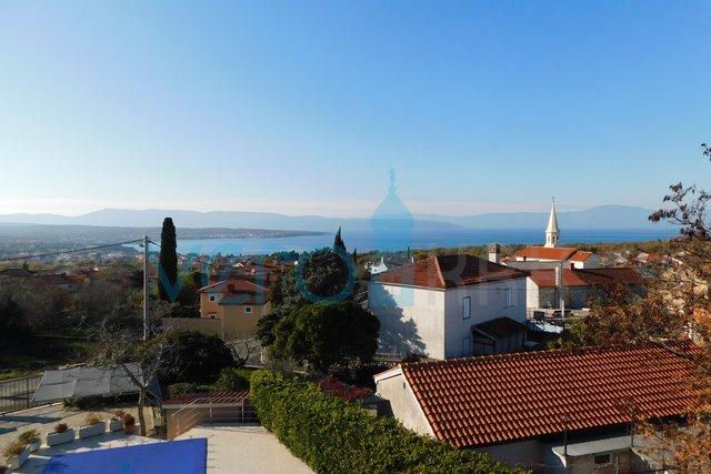 Malinska, Reihenhaus mit Panoramablick auf das Meer