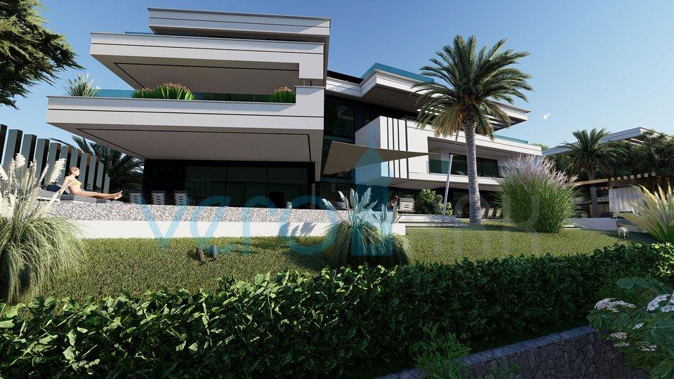 Malinska, luksuzni apartman 70m do plaže, na traženoj lokaciji