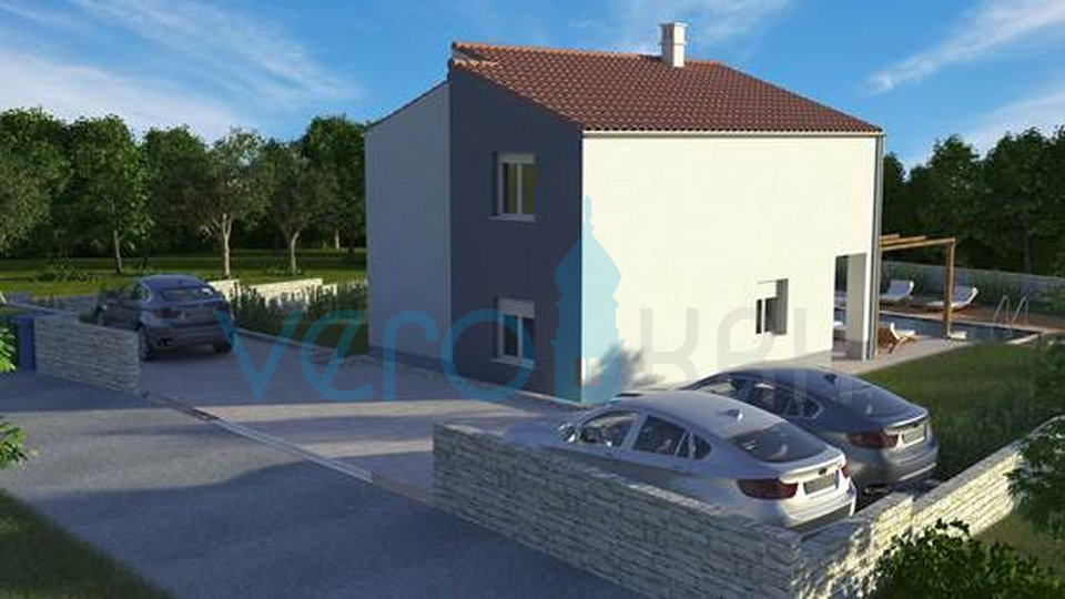 Vrbnik, Insel Krk, dynamisches Einfamilienhaus mit Pool und großem Garten