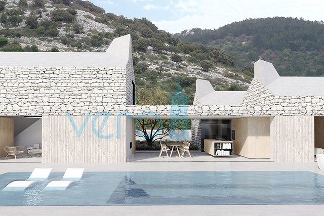 The island of Cres, attractive land 1442m2, 200 to the sea
