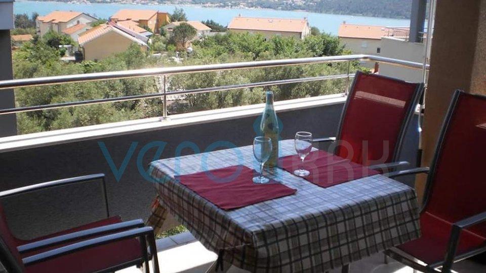 Čižići, otok Krk, stan 45m2 sa prekrasnim pogledom na more