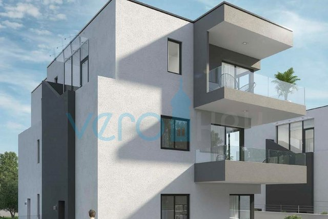 Grad Krk, atraktivan dvosoban stan na katu u novogradnji