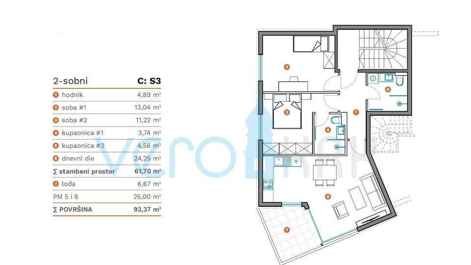 Stanovanje, 61 m2, Prodaja, Krk