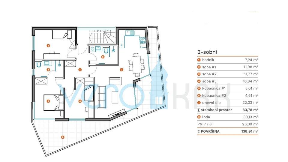 Apartment, 83 m2, For Sale, Krk